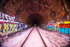 Ilchester (6-11-16)-038 (nickatkins) Tags: longexposure railroad bridge sky water graffiti bridges rail tunnel bluesky ironbridge rails railroads