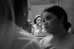 The Bride (mookie.nyc) Tags: wedding blackandwhite bw brooklyn mirror bride candid before preperation bushwick prep puertorican newyorkers mirrorportrait nuyorican weddingphotography puttingonmakeup blackandwhiteportrait blackandwhitewedding blackandwhitebride candidweddingphotography puertoricanwedding 5dmarkiii puertoricanbride