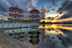 Imperial (ChieFer Teodoro) Tags: sunset cloud canon garden landscape pagoda singapore chinese twin reservoir filter lee imperial gitzo graduated density 6d neutral 1635 1635mm proglass gt2541 sunwayfoto fb44ii pcl6dr