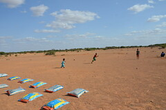 Children play during relief distributions in Puntland (Ummah Welfare Trust) Tags: poverty children hope desert islam happiness aid hunger drought humanitarian somalia somaliland puntland humanitarianism poveerty