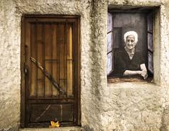 La Mamma (patoche21) Tags: street windows portrait people woman streetart france architecture portraits paint corse femme corsica streetphotography ruelle rue gens bastia photoderue portesfenêtres patrickbouchenard