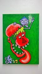 """""""Red Skull"""" (seanwalsh4) Tags: street red art painting bristol skull graffiti acrylic sean walsh"""