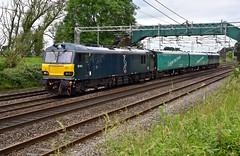 Chorlton Dysons (wwatfam) Tags: railroad england electric arlington cheshire britain trains vehicles crewe barrier fleet railways services locomotives sleeper caledonian livery chortle wcml gbrf 92010 92014