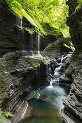 Rainbow Falls, Watkins Glen, New York (Thomas Cantwell) Tags: nature water river landscape waterfall rainbow falls glen drip gorge watkins