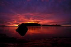 Sunset after the rain (mrjensgreen) Tags: sunset lake color water rain vatten solnedgng mlaren