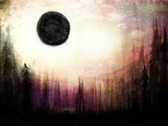 Ink+Colored Pencil+Digital (teproleum) Tags: sky sun moon art clouds digital ink painting eclipse artwork artist coloredpencils