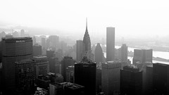 B&W, Met Life, Chrysler building, East river, Mid town, Views from the Empire State building, Observation deck, New York (Fco. Javier Cid) Tags: bw metlife chryslerbuilding eastriver midtown viewsfromtheempirestatebuilding observationdeck newyork