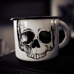 Death before Decaf (La Chachalaca Fotografa) Tags: death decaf skull calavera coffee cafe caffeinated lumix gm5 home addiction