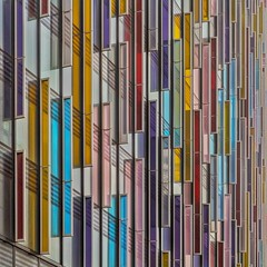 Try a Little Tenderness (Paul Brouns) Tags: park plaza city uk bridge color colour london art westminster architecture paul hotel rainbow colorful pattern britain centre great shades photographic repetition colourful screens brouns paulbrouns paulbrounscom