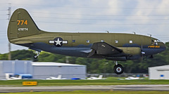 N78774 (Steed Images) Tags: airplane florida airshow warbird commando verobeach c46