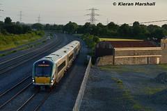22021 passes Stacumny Bridge, 27/6/16 (hurricanemk1c) Tags: irish train rail railway trains railways irishrail rok rotem countykildare 2016 icr iarnrd 22000 22021 ireann iarnrdireann 4pce stacumny stacumnybridge 1815westportheuston