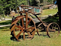 tricycle (muffett68 ) Tags: rusted metal sculpture tricycle odc reuse art