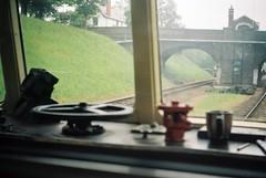 Driverless Train? (the.photo.joe) Tags: digital film 35mm argus canon nikon leica war worldwar2 great central railway jeep sten train 1940s kodak dmu diesel