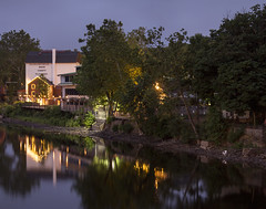 365-226 ( estatik ) Tags: new morning bridge panorama reflection mill night river hope early canal long exposure pennsylvania nj free historic pa jersey mon delaware 365 monday towns penna lambertville 226 buckscountyplayhouse 62716 365226 june272016