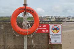 Lifebouy of the Day 3 (Apionid) Tags: orange beach peel seafront isleofman lifering lifebouy nodogs day180366 nikond7000 366the2016edition 3662016 28jun16