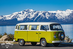 Tahoe Cruising (Eric Arnold Photography) Tags: life california ca lake mountains bus classic water car vw vintage magazine volkswagen coast automobile shoot photoshoot outdoor nevada tahoe tire automotive retro nv cover shore vehicle spare van camper kombi feature