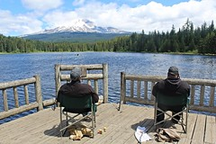 Fishing under Mount Hood (Gunn Shots (Mark Gunn)) Tags: oregon fishing mounthood trilliumlake