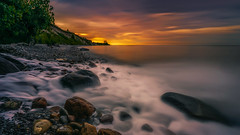 Mercy mercy me (Todd Murrison (Whitby61)) Tags: lakeontario whitby shoreline canada sewage theecology mercymercyme 3stitchpano canadaday goldenhour summer longexposure 151seconds canon6d canontse24mmf35l tiltshift pollution whatsgoingon stinky whitefoam environmentalconcern rocks boulders water trees cliffs clouds beach marvingaye leebigstopper 10stops toddmurrison