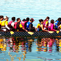 A DESERVING REST (marc falardeau) Tags: toronto canada water spring nikon colours may lakeontario dragonboat races amateur sundat riteofspring gayphotographer reflectkion d300s