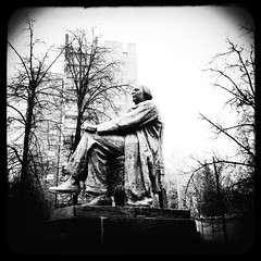 (Monument to Alexei Tolstoy) (Andrey  B. Barhatov) Tags: city urban blackandwhite bw noir msk monuments worldmap citywalks iphonecamera kitcam