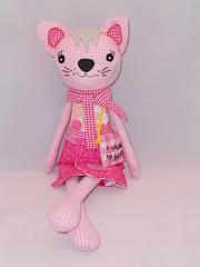fashion cat (fabric and scissors) Tags: animal cat toy toys stuffed handmade sew scissors softie softies fabric cloth mellyandme