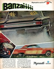 1967 Plymouth Belvedere GTX Advertising Hot Rod Magazine April 1967 (SenseiAlan) Tags: hot magazine advertising plymouth 1967 april rod belvedere gtx