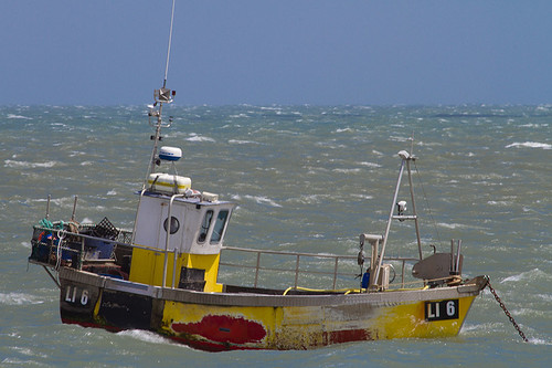 Selsey Fishing Boat (Red Blue Yellow)