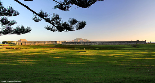 View Across Kingston Common to Prisoners Barracks (Built 1832-35) and New Gaol (Built 1836-47), Kingston, Norfolk Island