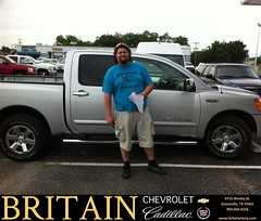 Britain Chevrolet Cadillac would like to say Congratulations to Justin Wade on the 2012 Nissan Titan from Branden Chambers (britainchevrolet) Tags: new chevrolet car sedan truck happy dallas texas allen britain tx pickup cadillac used vehicles chevy bday dfw plano van minivan suv coupe greenville dealership frisco mckinney shoutouts dealer customers metroplex preowned