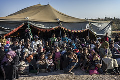 UNHCR Special Envoy Angelina Jolie meets with newly arrived Syrian refugees in Jordan (UNHCR) Tags: tents crowd middleeast jordan syrianrefugees jordansyriaborder