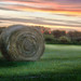 Sandra Cox - Bales of Hay Underneath a Beautiful Missouri Sunset
