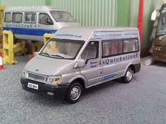 Third Transit (quicksilver coaches) Tags: ford model quicksilver transit oo 172 minibus diecast 176 code3 cararama hongwell