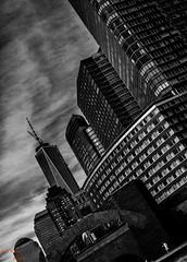 Big City Life (Asaf Keles) Tags: life street city nyc newyorkcity bw ny newyork canon blackwhite big skyscrapers manhattan streetphotography batterypark wtc tamron downtownmanhattan tamron2875 bigcitylife canoneos50d nycinbw asafkeles