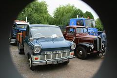 1970 TRANSIT MKI - 1957 AUSTIN (shagracer) Tags: show classic ford up car lorry commercial rig transit vehicle british van pick unit longbridge mki 2013 deverill vud756h nco20