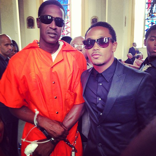 C MURDER let out of Jail to got ot his Grandmothers Funeral
