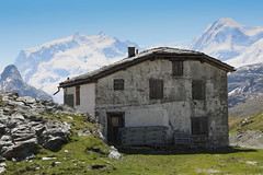 Old Schwarzee Hut HDR (2) (Vibrimage) Tags: panorama alps trekking eos switzerland glaciers zermatt monterosa matterhorn hdr breithorn greatview riffelberg montcervin schwarzee canon24105mmf4 alpinesummer 5d3 canon5dmark3