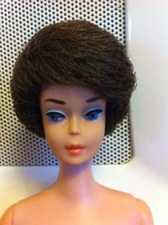 Vintage Barbie Bubble Cut Brownette After