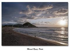 Playa de La Zurriola (Galera de Manuel Rguez. Prieto) Tags: atardecer nikon surf playa sansebastian donostia urgul lazurriola