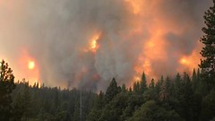 Yosemite Rim Fire - Video (gcquinn) Tags: california mountains 120 fire video highway geoff sierra hwy yosemite quinn geoffrey rim