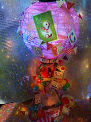 Flight of the Giraffe (Lisa Kettell) Tags: diy hotairballoon giraffe lantern embellishments toyanimals circusanimals scrapbookpaper carnivaltoys lisakettell scrapbookproject flyingvessel recycledprojects recycledproject carnivalanimals lisakettelldesigns flightofthegiraffe halloweenpopcornboxbloghop