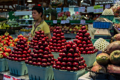 cherry picking (Munich DX) Tags: canada vancouver cherry island grey cherries nikon jasper market wells columbia alberta banff british markt greenville kanada kirschen d5200