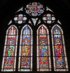 Strasbourg cathedral window (perseverando) Tags: france window cathedral stainedglass notredame strasbourg perseverando