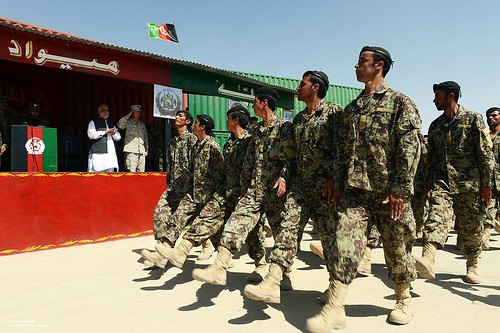 Afghan Soldiers on Parade at the Camp Shorabak Battle School