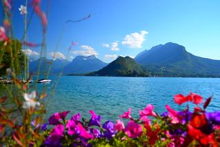 Tallloires : vue sur le lac d'Annecy
