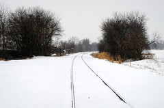 Once the Chicago & Northwestern Rail Line. (Cragin Spring) Tags: railroad winter snow illinois midwest tracks rail il mchenrycounty solonmills solonmillsil solonmillsillinois