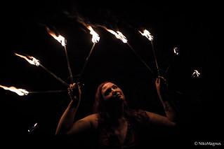 étoiles de flammes