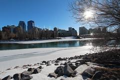 The Bow river Calgary various shots