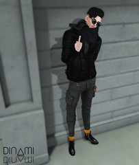 Don't F wit me. (MATTY // *OMG*) Tags: new winter cold male leather fashion scarf hair glasses blog clothing cool hands shoes keyring pants mesh boots coat release formal style cargo fresh sl chain jacket secondlife tips mens quilted advice casual sorgo hip tight dope swag dura stylish unorthodox motivaction hairbase monso cheerno kalrau lucienmarcelo