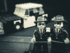 Blues Brothers (dash.null) Tags: blackandwhite car closeup fun toys lumix model jake lego artistic band jazz blues panasonic g5 elwood tribute collectables bluesbrothers raynox dcr150