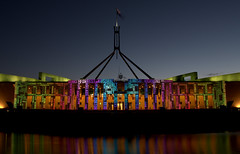 Parliament House - Names (Melanie Serin) Tags: night canberra enlighten pentaxk3